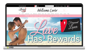 """Love has rewards"" Lovers Lane loyalty webpage"
