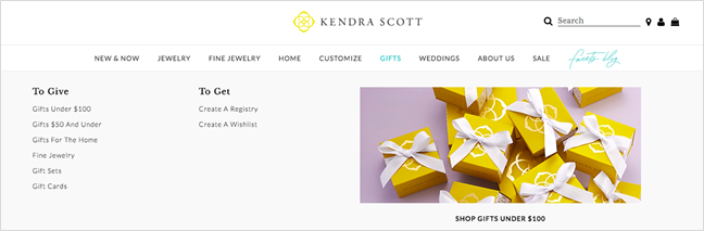Kendra Scott website