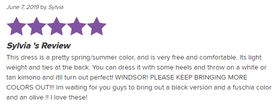 A review on Windsor.com with customized branded hearts.